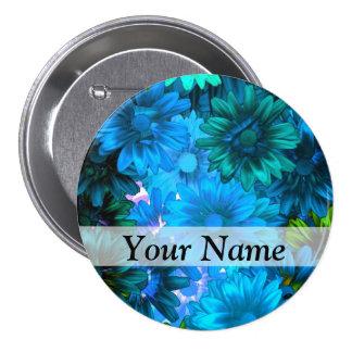 Light blue modern floral pattern pins