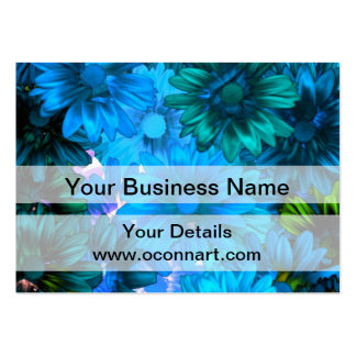 Light blue modern floral pattern pack of chubby business cards