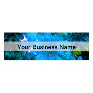 Light blue modern floral pattern pack of skinny business cards