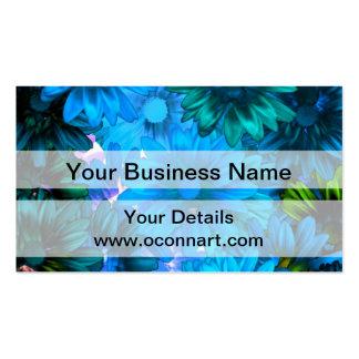 Light blue modern floral pattern pack of standard business cards