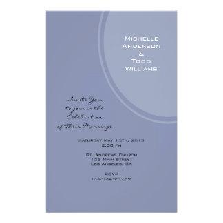 Light Blue Modern Wedding Full Color Flyer