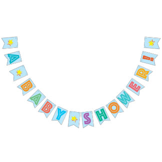 LIGHT BLUE MULTICOLORED ☆ A BABY SHOWER ☆ FOR BOY BUNTING