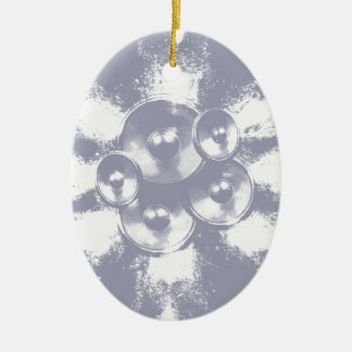 Light blue music speakers christmas ornament
