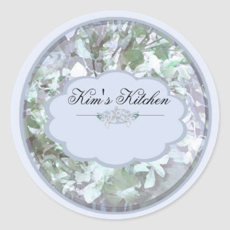 light blue orchids small jar labels round stickers