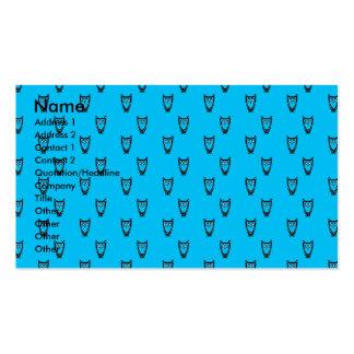 Light blue owl pattern business cards