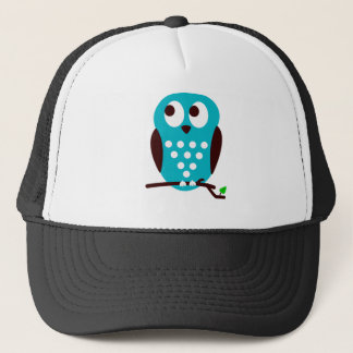 Light Blue Owl Trucker Hat