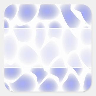 Light Blue Pattern. Square Sticker
