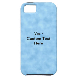 Light Blue Pattern with Custom Black Text. Case For The iPhone 5
