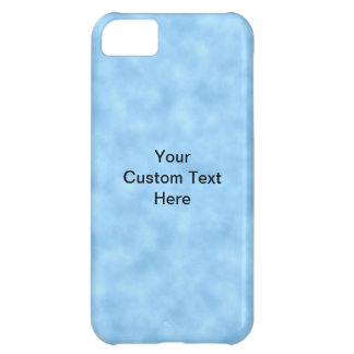 Light Blue Pattern with Custom Black Text. iPhone 5C Case