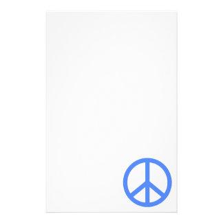 Light Blue Peace Stationery