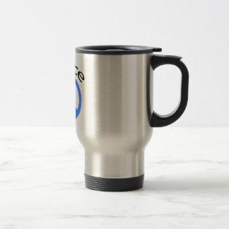Light Blue Peace & Word Stainless Steel Travel Mug