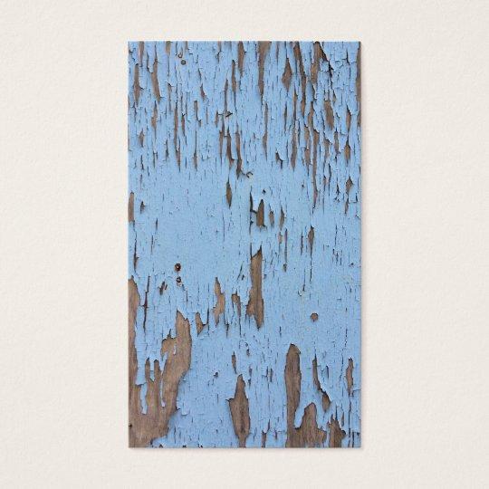 Light Blue Peeling Paint Business Card