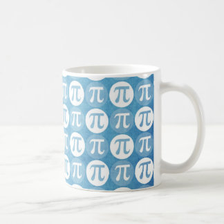 Light Blue Pi Circles Coffee Mug