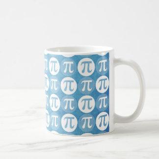 Light Blue Pi Circles Mugs