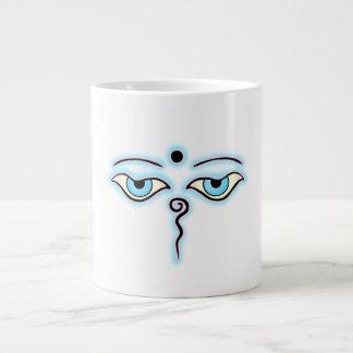 Light blue Pink Buddha Eyes png Extra Large Mug