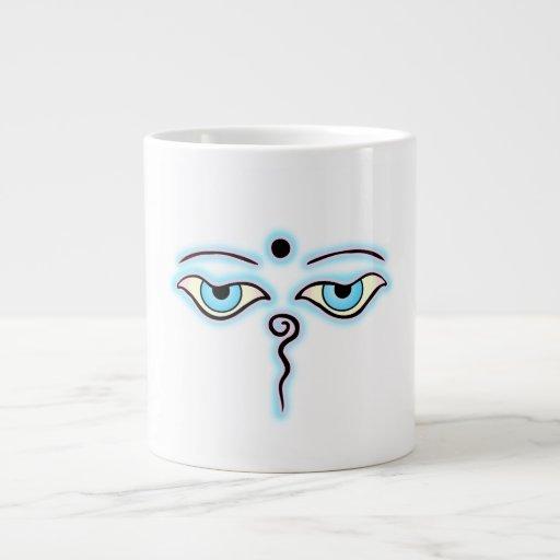 Light blue Pink Buddha Eyes.png Extra Large Mug