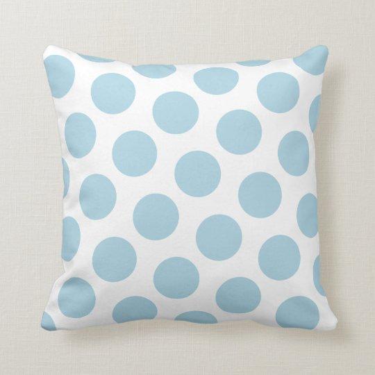Light Blue Polka Dot Cushion