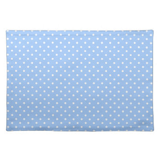Light Blue Polka Dots Placemat