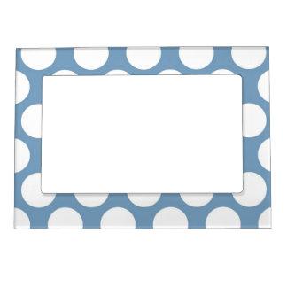 Light Blue Polkadot Magnetic Picture Frame