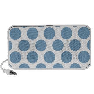 Light Blue Polkadot iPhone Speaker