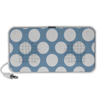 Light Blue Polkadot Mini Speakers