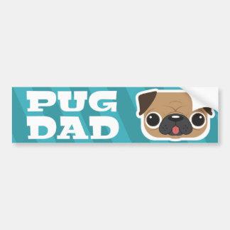 Light Blue Pug Dad Bumper Sticker