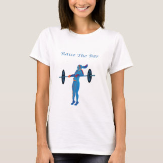 Light Blue Raise The Bar t-shirt and accessories