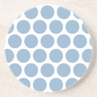 Light Blue Retro Colorful Modern Polka Dots Coasters