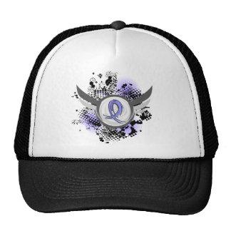 Light Blue Ribbon And Wings Thyroid Disease Trucker Hats