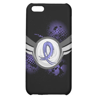 Light Blue Ribbon And Wings Thyroid Disease Cover For iPhone 5C
