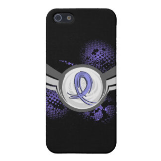 Light Blue Ribbon And Wings Thyroid Disease Covers For iPhone 5