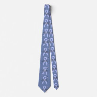 Light Blue Ribbon with Butterfly Tie