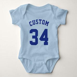 Light Blue & Royal Baby   Sports Jersey Design Baby Bodysuit