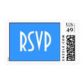 Light Blue RSVP Postage
