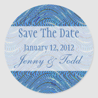 light blue save the date stickers