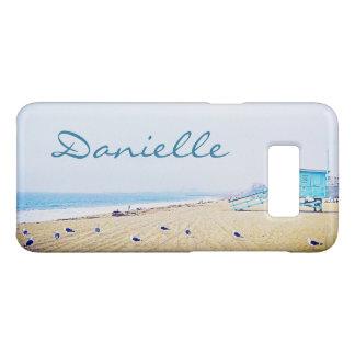 Light blue sky and sandy beach photo custom name Case-Mate samsung galaxy s8 case