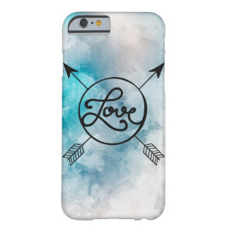 Light blue sky love and arrow marries barely there iPhone 6 case