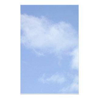 light blue sky w/ clouds stationary stationery design