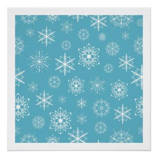 Light Blue Snowflake Christmas Design