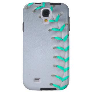 Light Blue Softball / Baseball Galaxy S4 Case