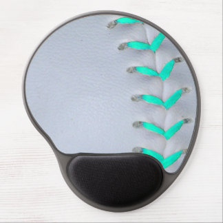Light Blue Softball / Baseball Gel Mouse Pad