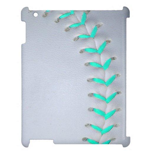 Light Blue Softball / Baseball iPad Case