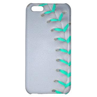Light Blue Softball / Baseball Case For iPhone 5C