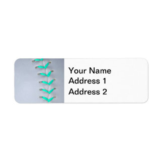 Light Blue Softball / Baseball Return Address Label