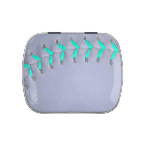 Light Blue Softball / Baseball Candy Tin