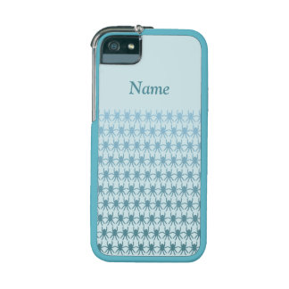 Light blue spiders on pale blue Personalise-It iPhone 5 Cases