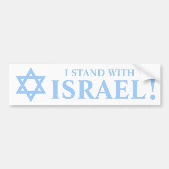 Light Blue Star of David Pro I Stand With Israel Bumper Sticker