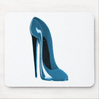 light blue stiletto shoe mouse pad