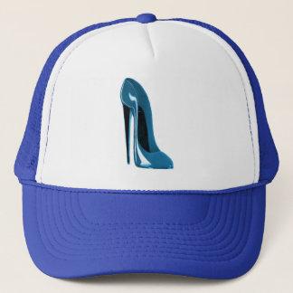 light blue stiletto shoe trucker hat