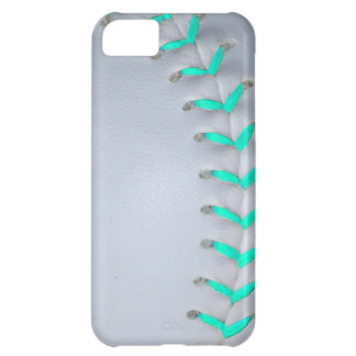 Light Blue Stitches Baseball / Softball iPhone 5C Case